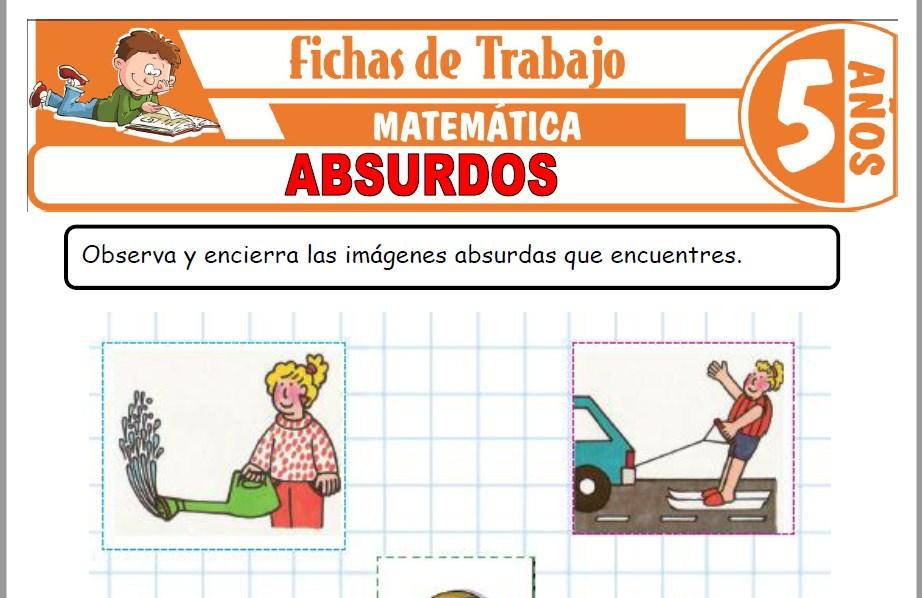 Modelos de la Ficha de Absurdos para Niños de Cinco Años