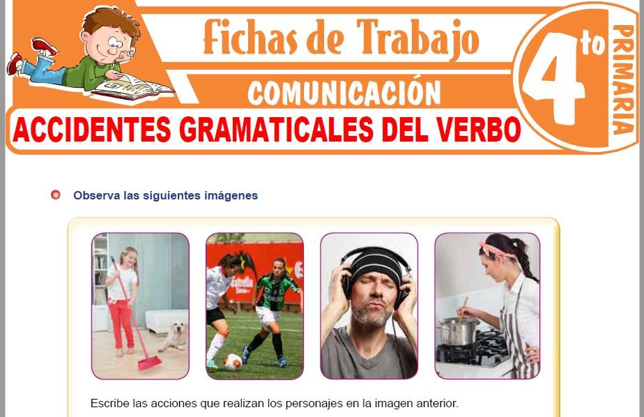 Modelos de la Ficha de Accidentes gramaticales del verbo para Cuarto de Primaria