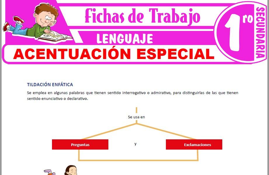 Modelos de la Ficha de Acentuación especial para Primero de Secundaria