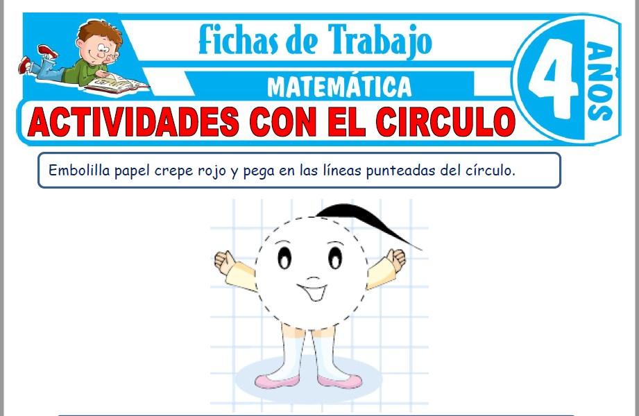 Modelos de la Ficha de Actividades con el circulo para Niños de Cuatro Años