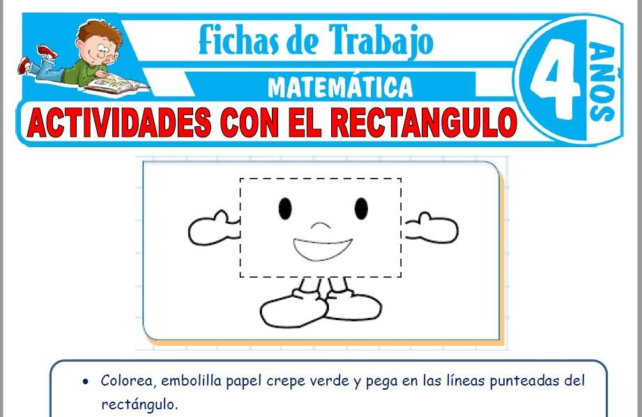 Modelos de la Ficha de Actividades con el rectangulo para Niños de Cuatro Años