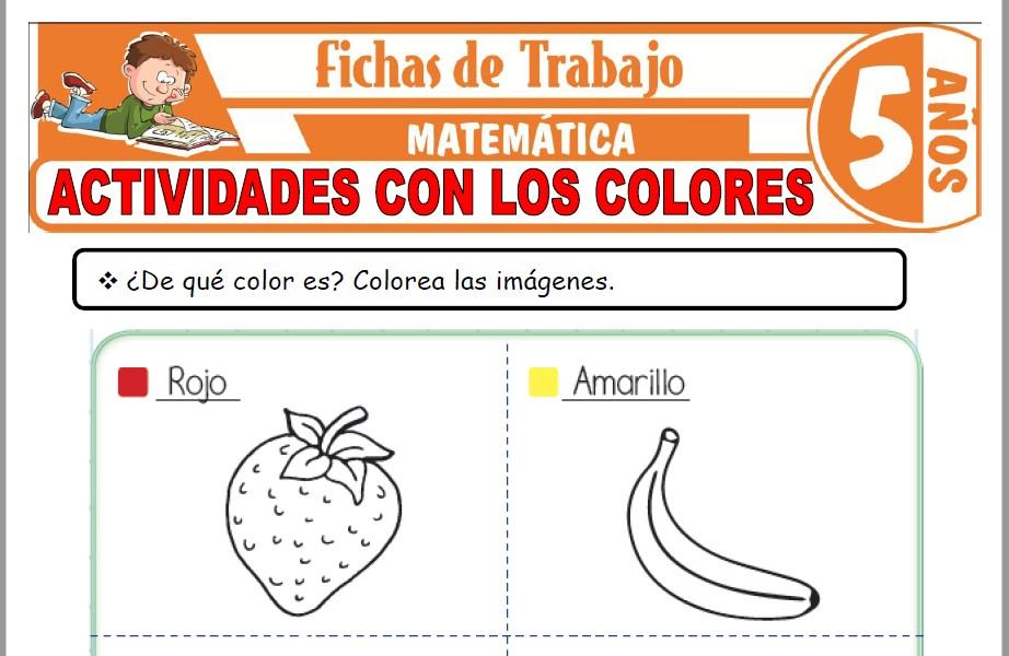 Modelos de la Ficha de Actividades con los colores para Niños de Cinco Años