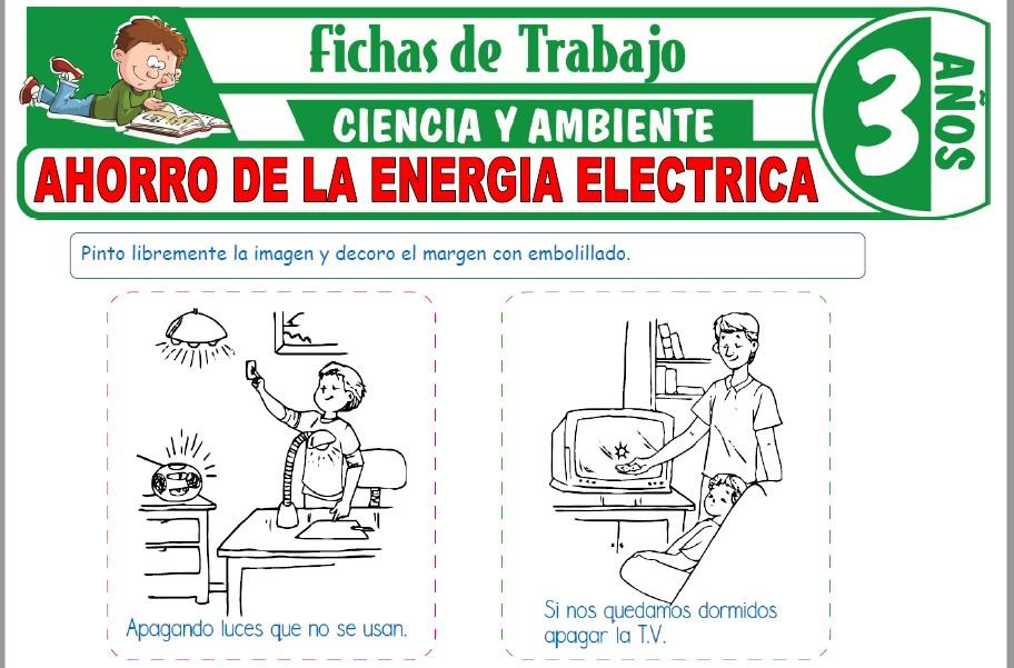 Modelos de la Ficha de Ahorro de la energía eléctrica para Niños de Tres Años