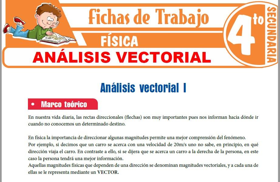 Modelos de la Ficha de Análisis vectorial para Cuarto de Secundaria