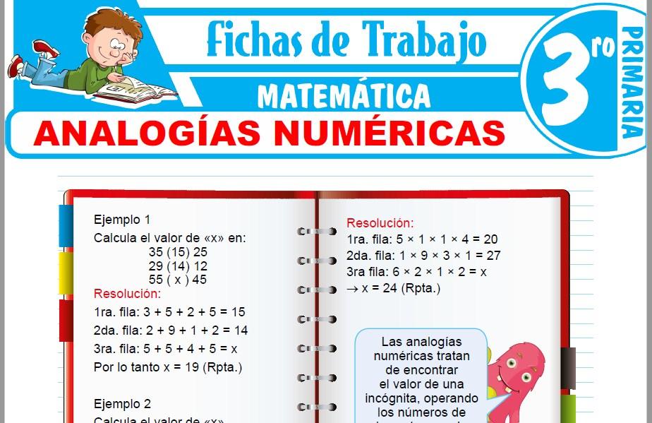 Modelos de la Ficha de Analogías numéricas para Tercero de Primaria