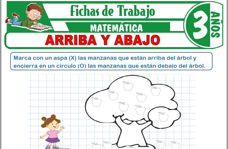 Modelos de la Ficha de Arriba y abajo para Niños de Tres Años