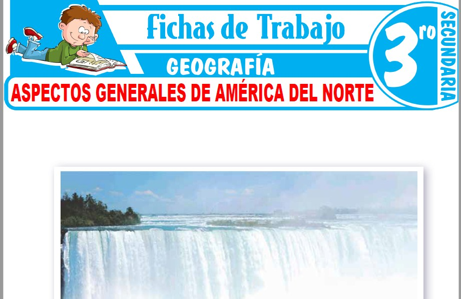 Modelos de la Ficha de Aspectos generales de América del Norte para Tercero de Secundaria