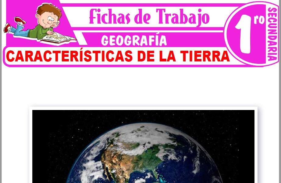 Modelos de la Ficha de Características de la Tierra para Primero de Secundaria