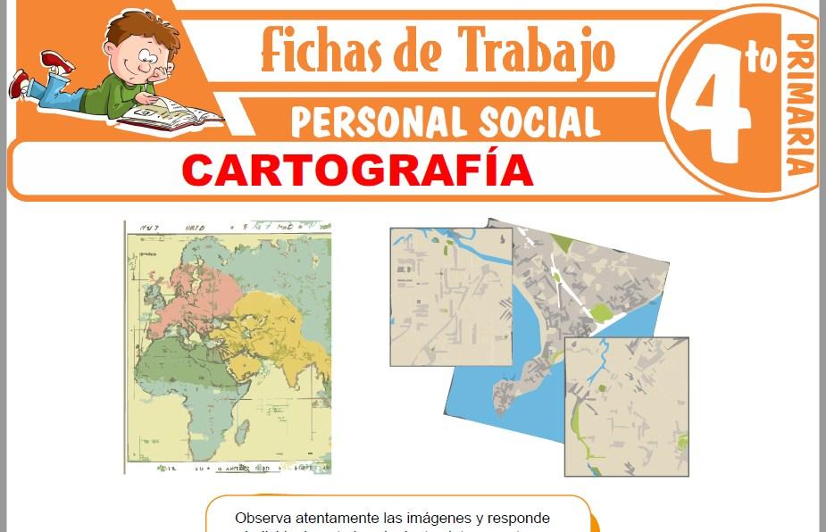 Modelos de la Ficha de Cartografía para Cuarto de Primaria