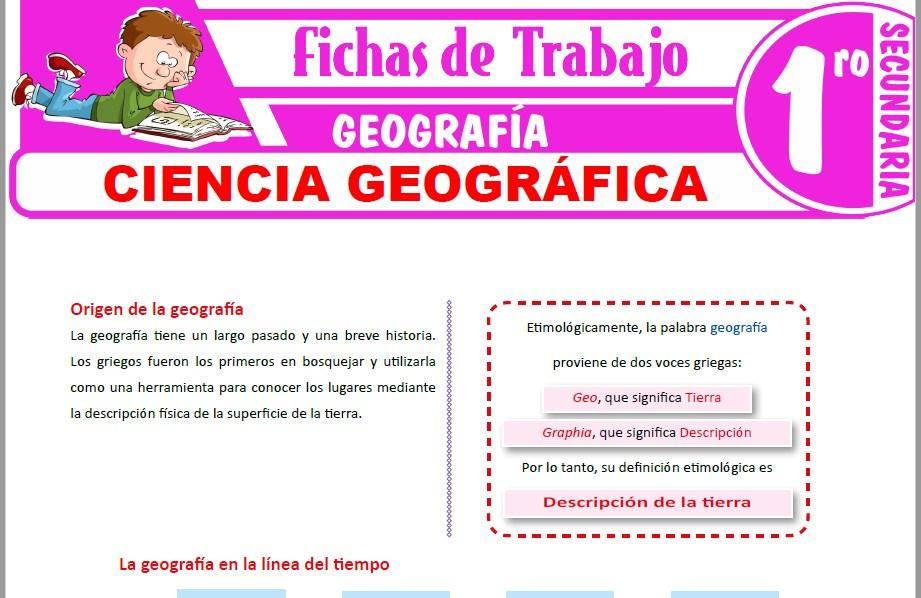 Modelos de la Ficha de Ciencia geográfica para Primero de Secundaria