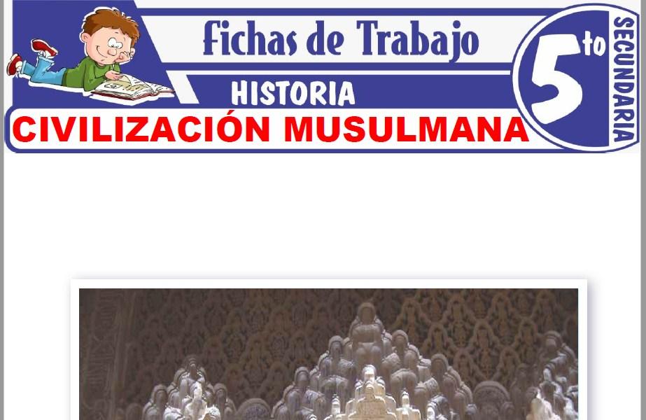 Modelos de la Ficha de Civilización musulmana para Quinto de Secundaria