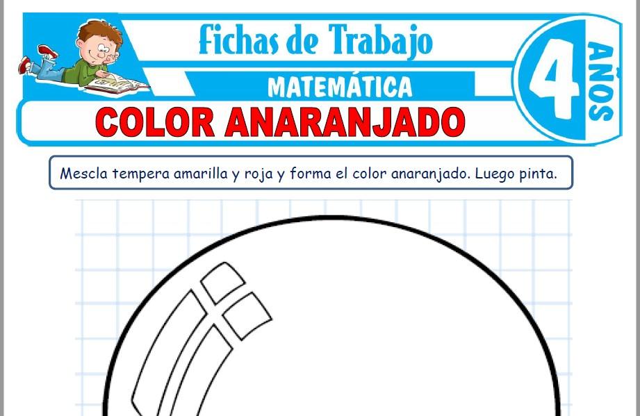 Modelos de la Ficha de Color anaranjado para Niños de Cuatro Años