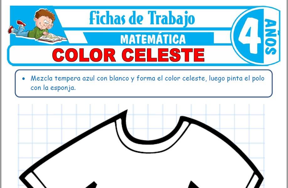 Modelos de la Ficha de Color celeste para Niños de Cuatro Años