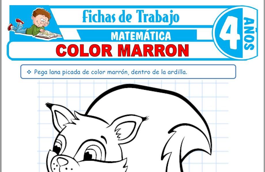 Modelos de la Ficha de Color marrón para Niños de Cuatro Años