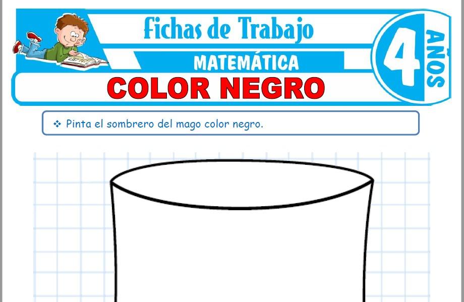 Modelos de la Ficha de Color negro para Niños de Cuatro Años