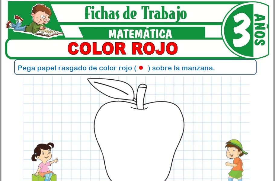 Modelos de la Ficha de Color rojo para Niños de Tres Años