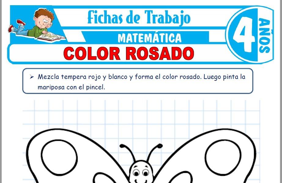 Modelos de la Ficha de Color rosado para Niños de Cuatro Años