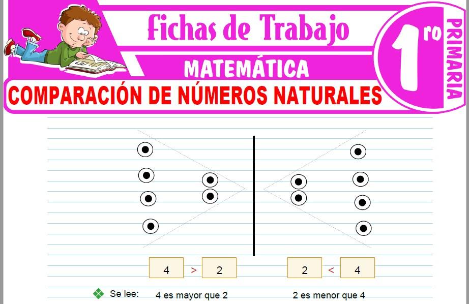 Modelos de la Ficha de Comparación de números naturales para Primero de Primaria