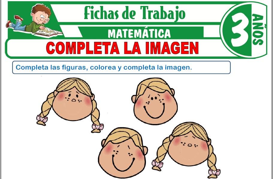 Modelos de la Ficha de Completa la imagen para Niños de Tres Años