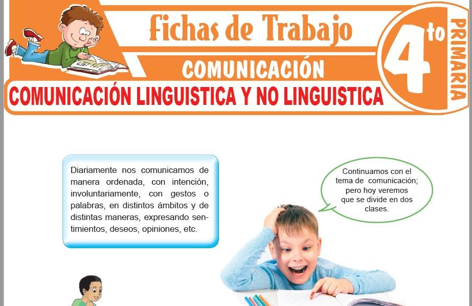 Modelos de la Ficha de Comunicación linguistica y no linguistica para Cuarto de Primaria