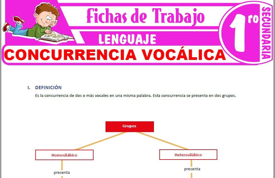 Modelos de la Ficha de Concurrencia vocálica para Primero de Secundaria|