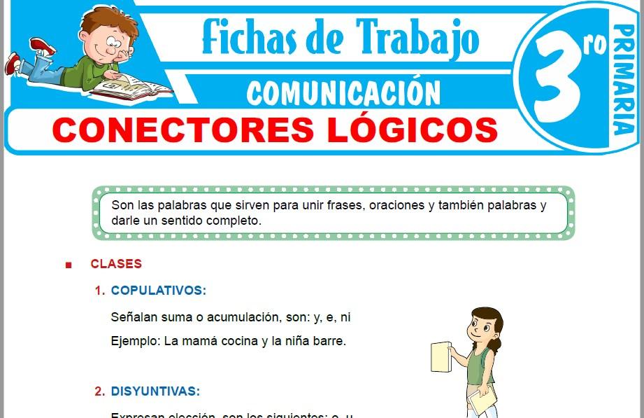 Modelos de la Ficha de Conectores lógicos para Tercero de Primaria