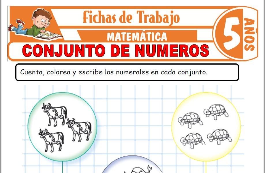 Modelos de la Ficha de Conjunto de números para Niños de Cinco Años