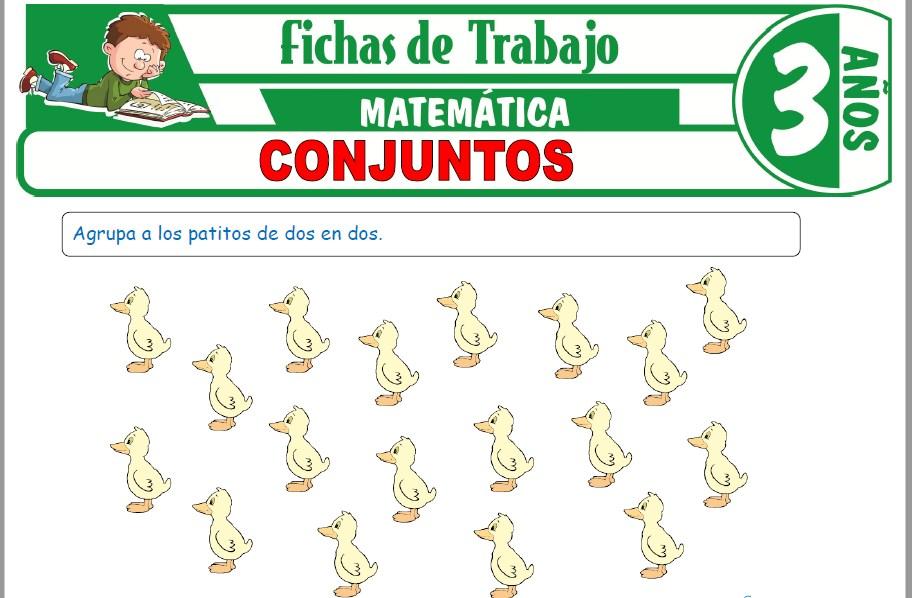 Modelos de la Ficha de Conjuntos para Niños de Tres Años