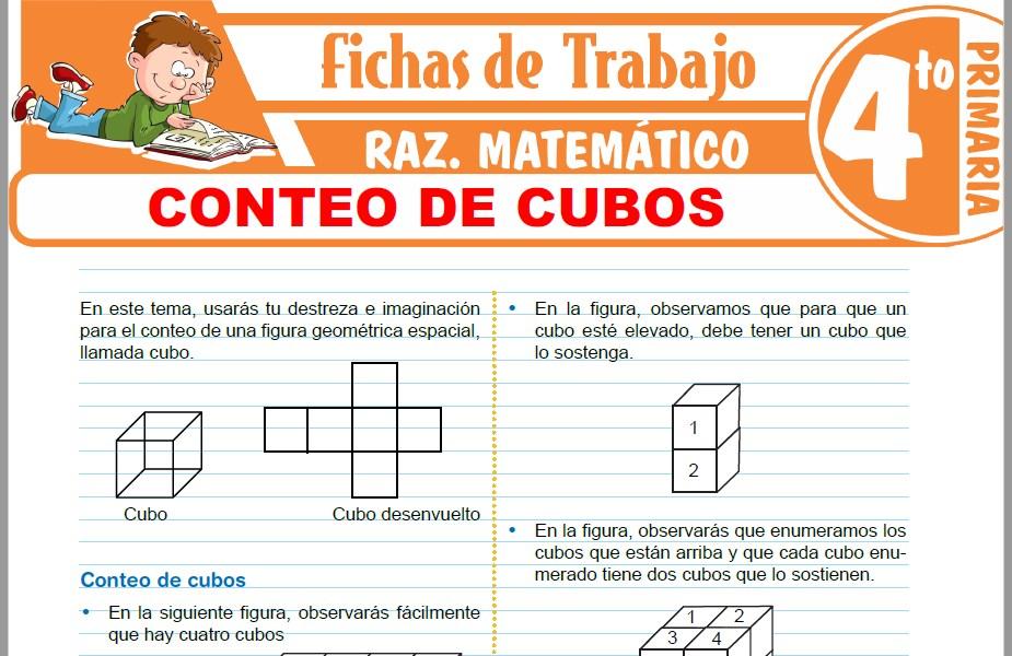 Modelos de la Ficha de Conteo de cubos para Cuarto de Primaria