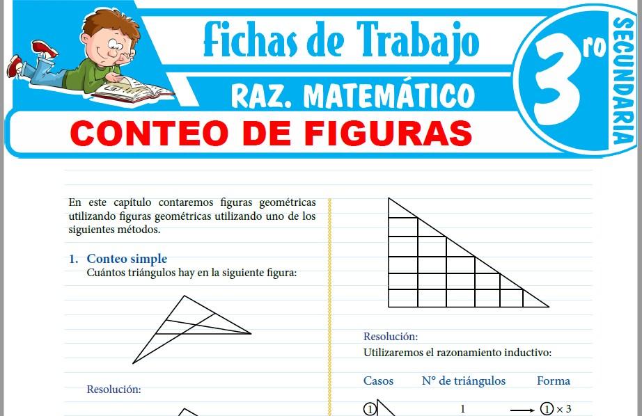 Modelos de la Ficha de Conteo de figuras para Tercero de Secundaria