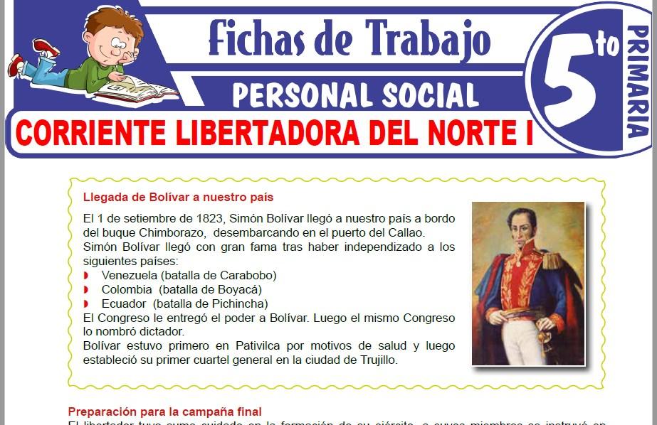 Modelos de la Ficha de Corriente libertadora del Norte I para Quinto de Primaria