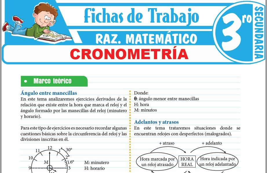 Modelos de la Ficha de Cronometría para Tercero de Secundaria