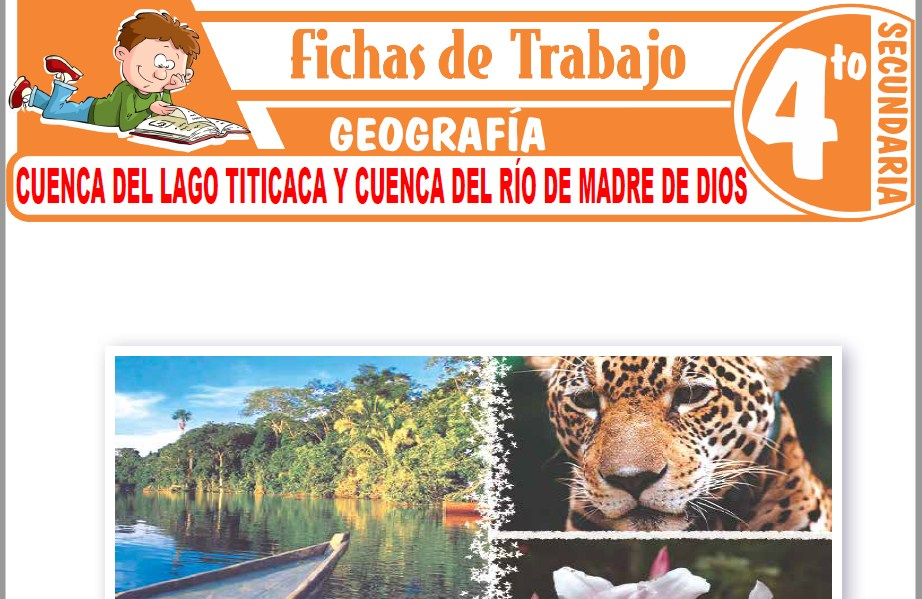 Modelos de la Ficha de Cuenca del Lago Titicaca y cuenca del río de Madre de Dios para Cuarto de Secundaria