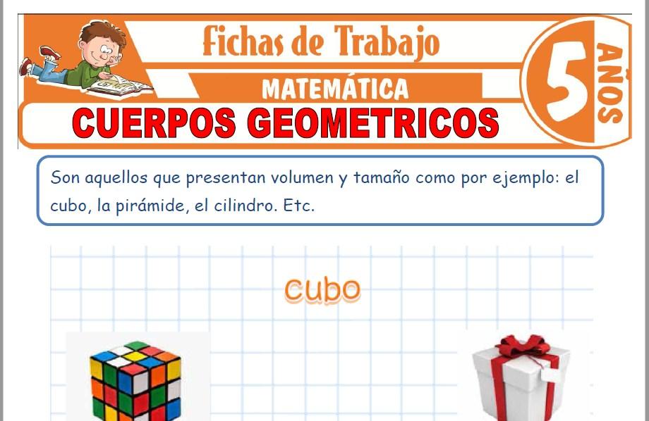 Modelos de la Ficha de Cuerpos geométricos para Niños de Cinco Años