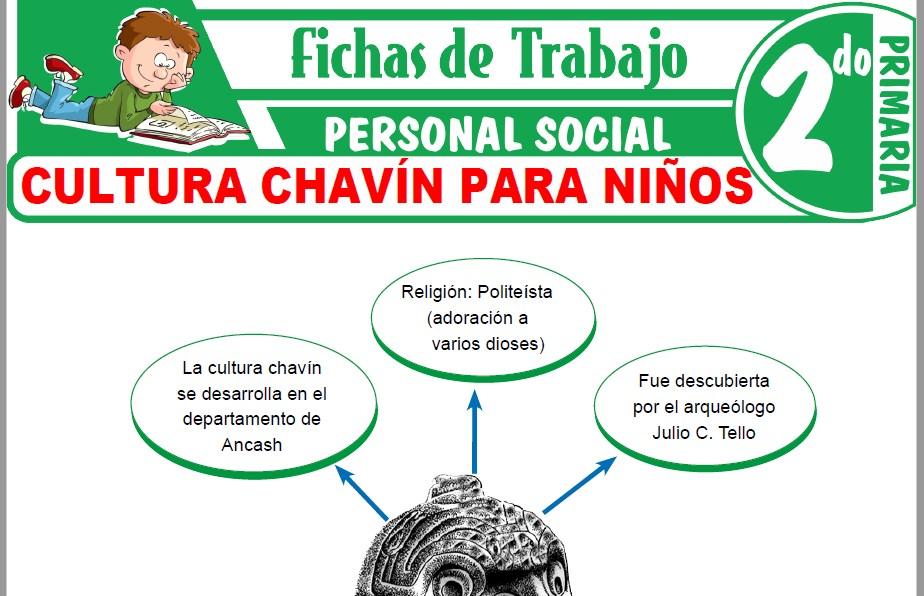Modelos de la Ficha de Cultura Chavín para Niños para Segundo de Primaria