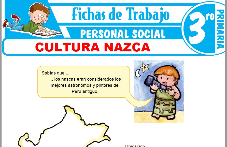 Modelos de la Ficha de Cultura Nazca para Tercero de Primaria