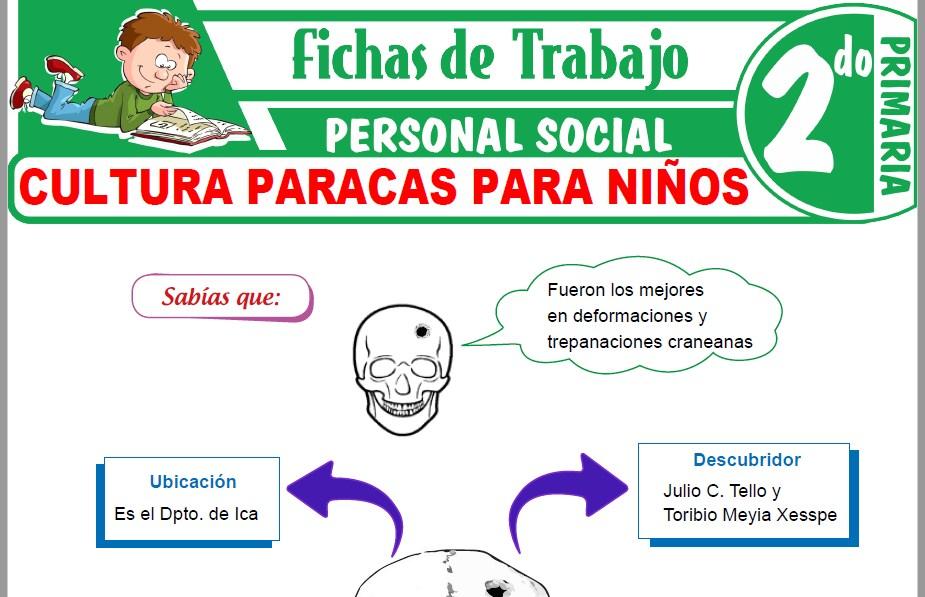 Modelos de la Ficha de Cultura Paracas para Niños para Segundo de Primaria