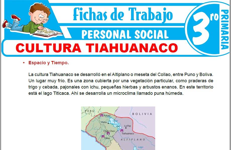Modelos de la Ficha de Cultura Tiahuanaco para Tercero de Primaria