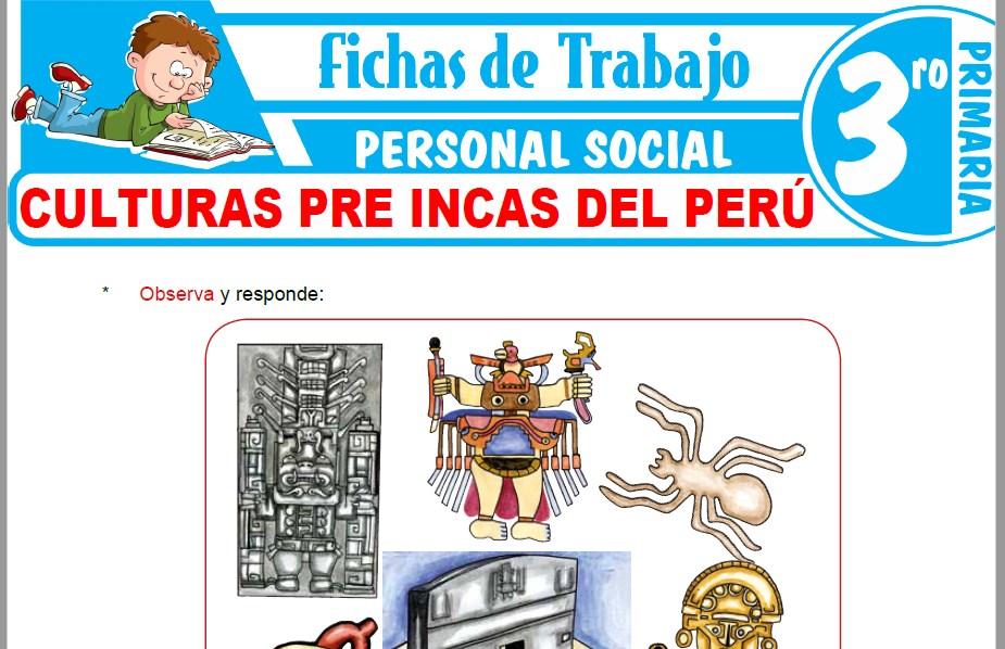 Modelos de la Ficha de Culturas pre incas del Perú para Tercero de Primaria