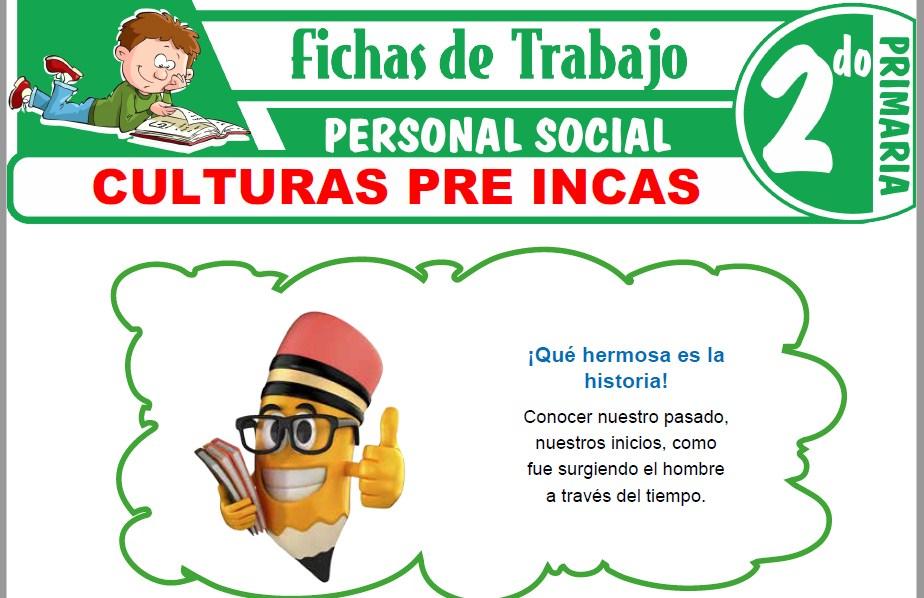 Modelos de la Ficha de Culturas pre incas para Segundo de Primaria