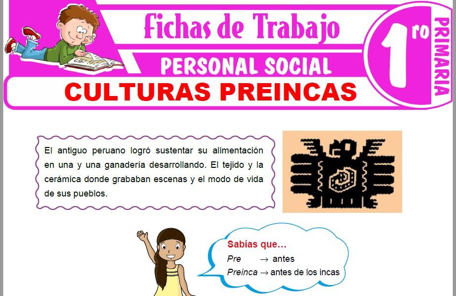 Modelos de la Ficha de Culturas preincas para Primero de Primaria