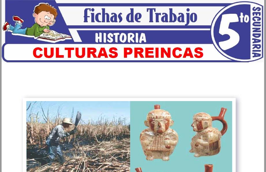 Modelos de la Ficha de Culturas preincas para Quinto de Secundaria