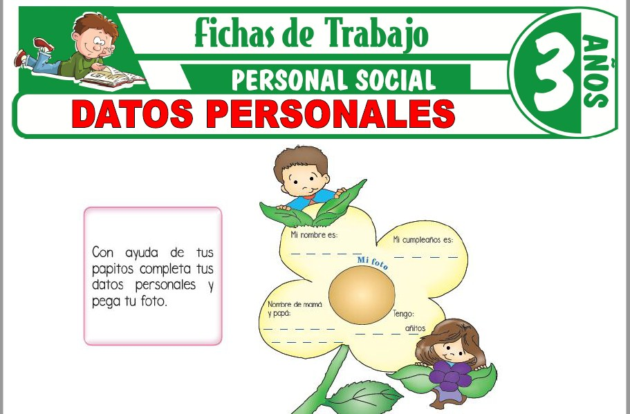 Modelos de la Ficha de Datos personales para Niños de Tres Años