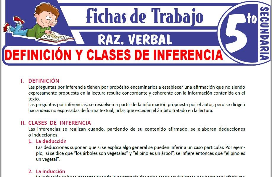 Modelos de la Ficha de Definición y clases de inferencia para Quinto de Secundaria