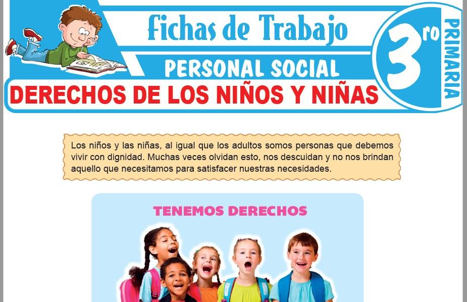 Modelos de la Ficha de Derechos de los niños y niñas para Tercero de Primaria