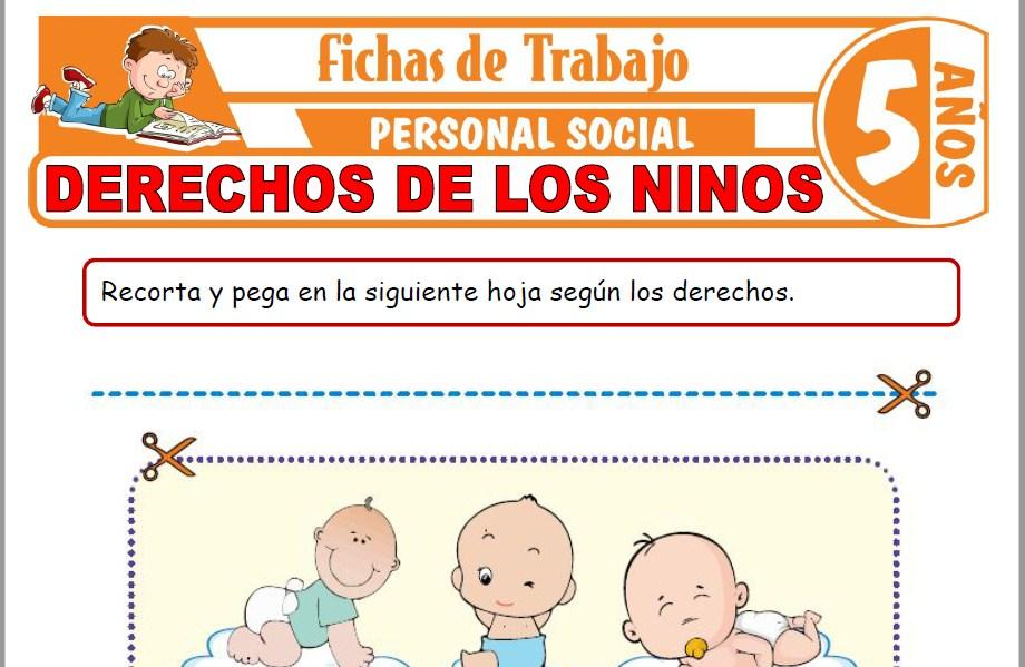 Modelos de la Ficha de Derechos de los niños para Niños de Cinco Años