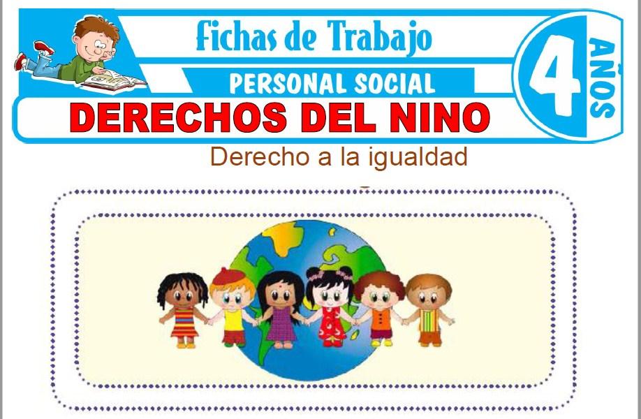 Modelos de la Ficha de Derechos del niño para Niños de Cuatro Años