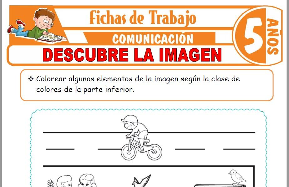 Modelos de la Ficha de Descubre la imagen para Niños de Cinco Años