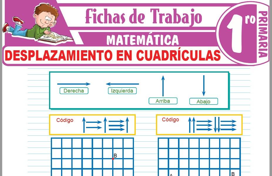 Modelos de la Ficha de Desplazamiento en cuadrículas para Primero de Primaria