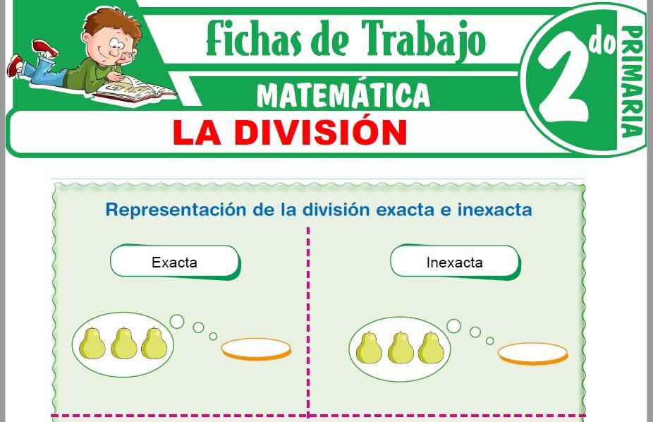 Modelos de la Ficha de División exacta e inexacta para Segundo de Primaria